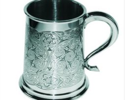 Personalised Celtic Spirals Tankard