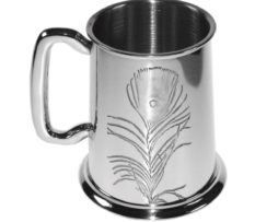 Personalised V&A Peacock Pewter Tankard