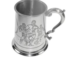 Personalised Match Pint Football Pewter Tankard