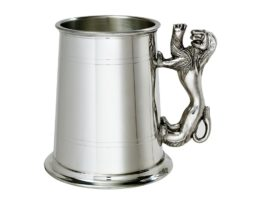 Pewter Tankard with Rampant Lion Handle