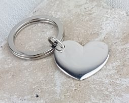 Personalised & Engraved Silver Heart
