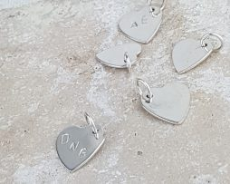 Silver Rustic Heart Silver Pendant
