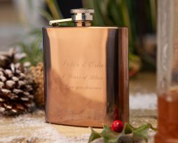 Personalised Copper Hip Flask