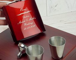 Striking personalised hip flask with gorgeous presentation box