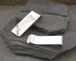 personalised golfer silver money clip