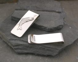 Sterling Silver Personalised and engraved fish money clip