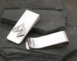 Equestrian Money Clip in Sterling Silver Personalised and Engraved
