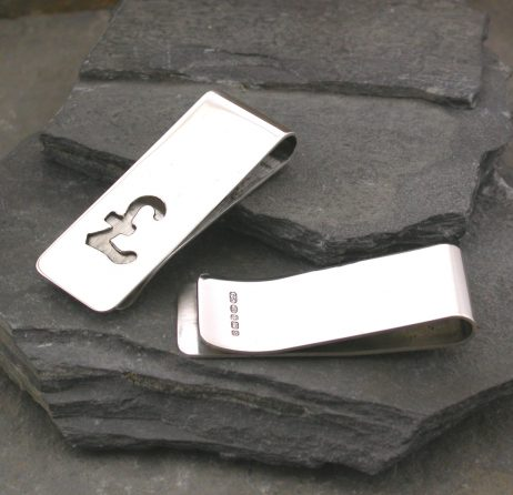 Pound Sign Silver Money Clip